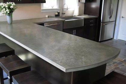 бетонные кухонные столешницы