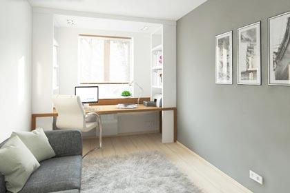 мини-кабинет у окна дизайн