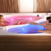 двойная ванна с подсветкой.
